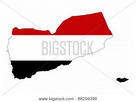 Yemen Flag Map
