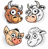 pic of farm animals  - Funny cartoon farm animals  - JPG