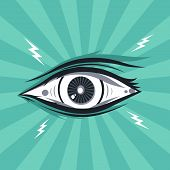 pic of freemason  - abstract eye theme vector graphic art illustration - JPG