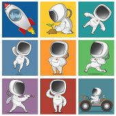 ������, ������: set of astronauts