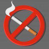 stock photo of smoking  - No smoking sign - JPG