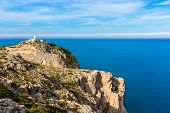 picture of lighthouse  - Majorca Formentor Cape Lighthouse in Mallorca North at Balearic islands of Spain - JPG