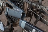 picture of mountain chain  - The broken frame of mountain bike - JPG