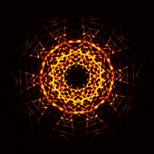 stock photo of cosmic  - The Abstract cosmic circle of fire star - JPG