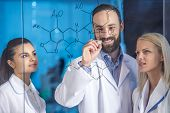image of chemistry  - Laboratory chemistry and science concept - JPG