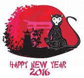 picture of chinese zodiac animals  - Chinese zodiac monkey 2016 year signs   - JPG
