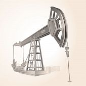 picture of big-rig  - Realistic vector Oil pump  - JPG
