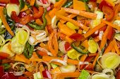 image of sauteed  - Sauteed vegetables close up of different cooked vegetables - JPG