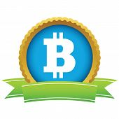 picture of bitcoin  - Gold Bitcoin logo on a white background - JPG