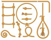 picture of gallows  - Vector twisted rope collection - JPG