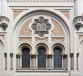 pic of synagogue  - architectural detail of the Spanish Synagogue in Prague the capital and largest city in the Czech Republic - JPG