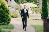 picture of ceremonial clothing  - beautiful wedding ceremony outdoors in the woods - JPG