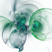 picture of trippy  - Nice abstract fractal wallpaper on white background - JPG