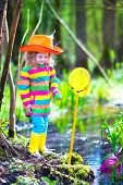 pic of wild adventure  - Child playing outdoors - JPG