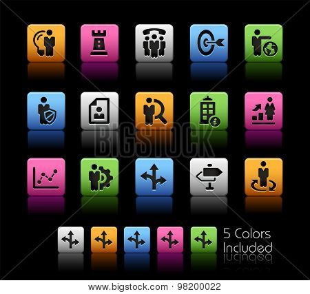 Company and Business Strategies // ColorBox Series ---- The Vector file includes 5 color versions for each icon in different layers --