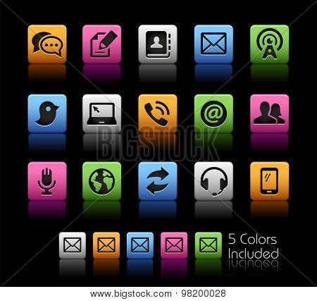 Communications Icons // ColorBox Series ---- The Vector file includes 5 color versions for each icon in different layers --
