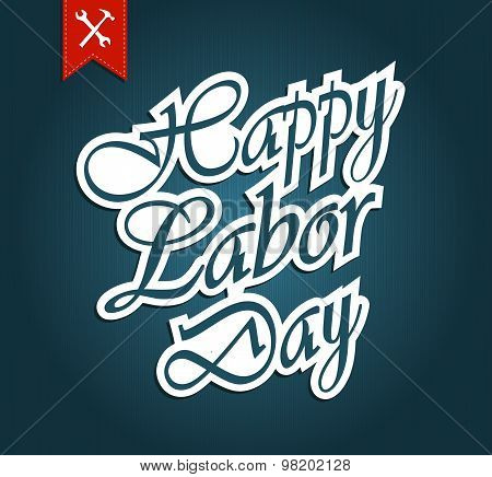 Happy Labor Day paper text