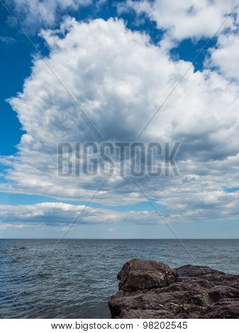 Clouds Over The Lake Superior Shore In Lutsen