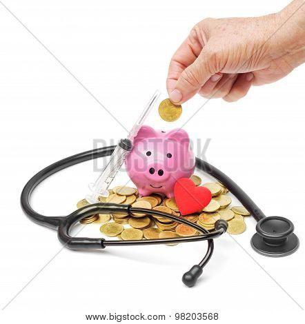saving money for healthcare and retirement