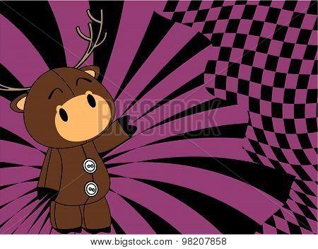 cartoon plush baby deer background