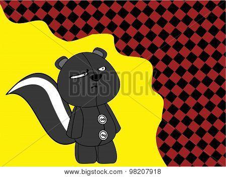 cartoon plush baby skunk background