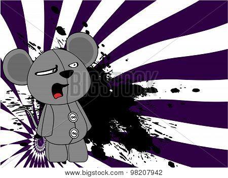 cartoon plush baby mouse background