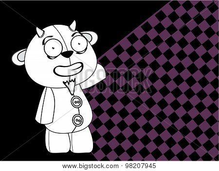 cartoon plush baby goat background