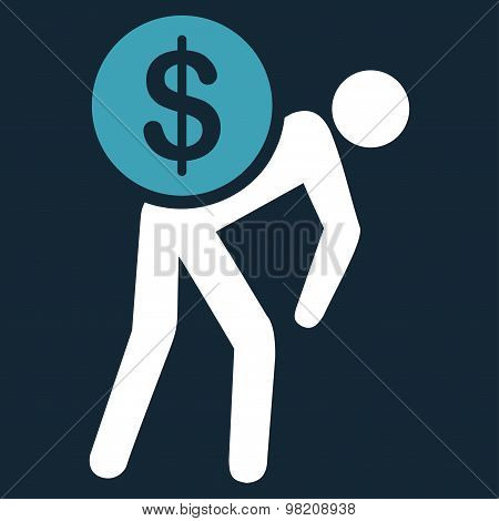 Money courier icon from Business Bicolor Set