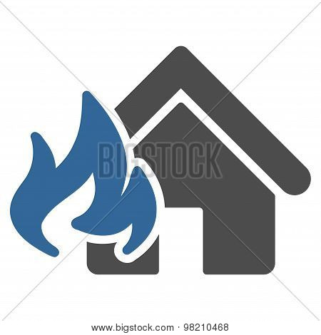 Fire Damage icon from Business Bicolor Set