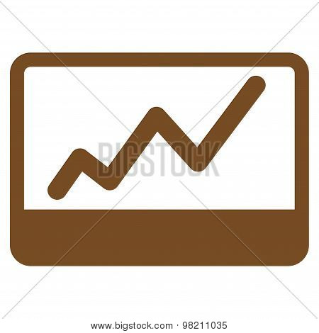Stock Market icon from Business Bicolor Set