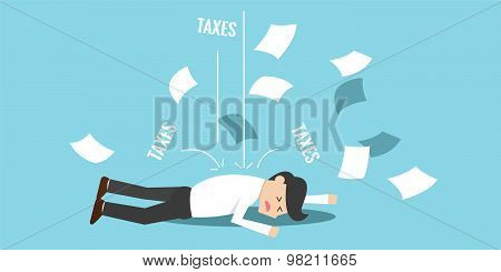 Business man bankrupt by taxes