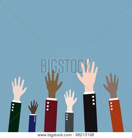 Raising Up Hands