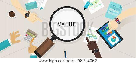 value proposition customer concept vector icon illustration