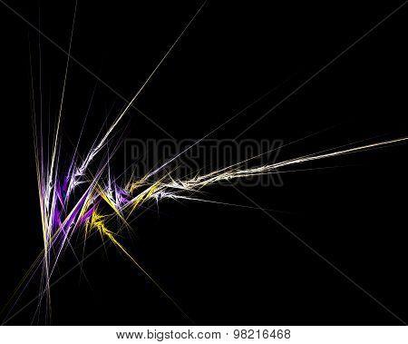 Abstract Fractal Design. Lightning On Black.