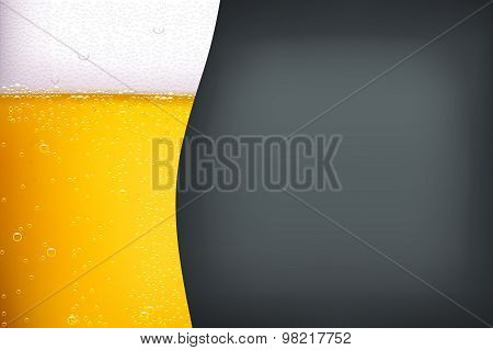 beer background with darkness