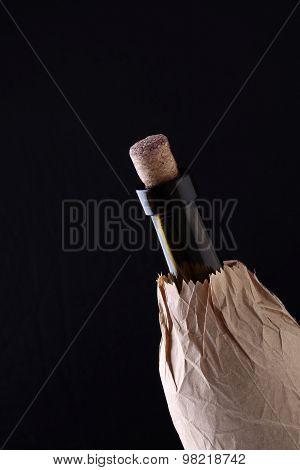 Wine Bottle In Paper Packet