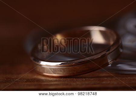 Closeup Of Golden Ring