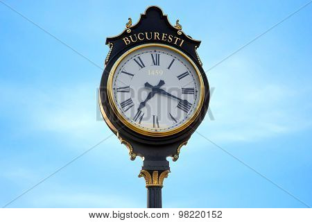 Parliament clocks in Bucharest city