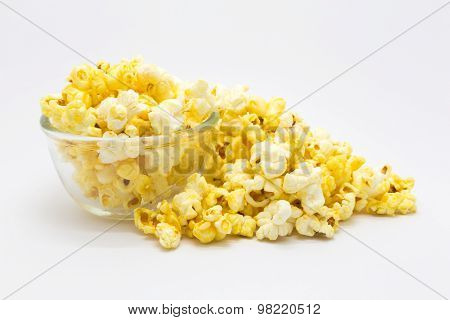 Sweet homemade caramel popcorn