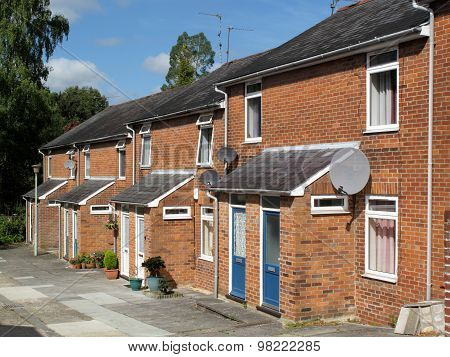 New suburban terraced houses