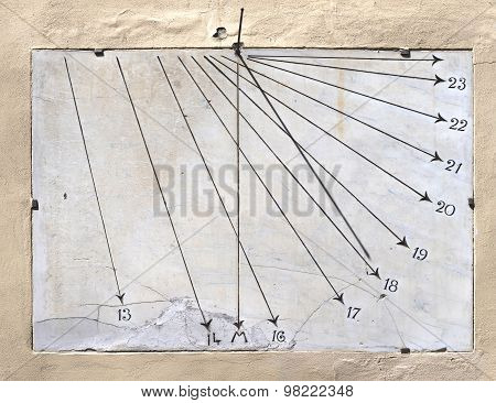 Ancient Sundial of marble