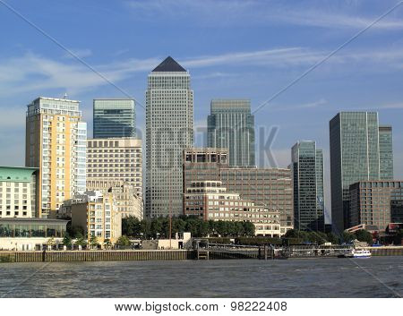 Canary Wharf in London Docklands