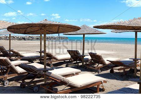 Beach Chairs And Sunshades