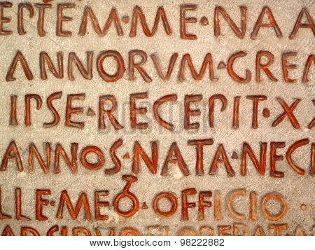 Latin script background