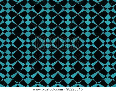 Black And Blue Geometric Pattern