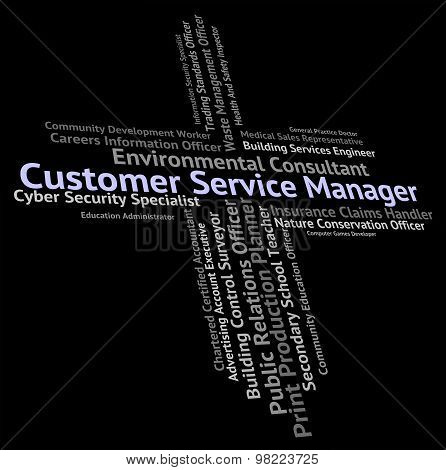 Customer Service Manager Shows Help Desk And Assistance