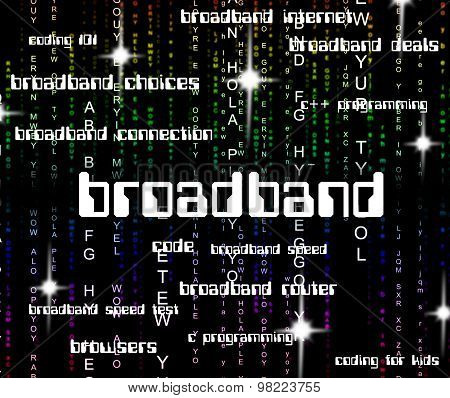 Broadband Word Shows World Wide Web And Computing