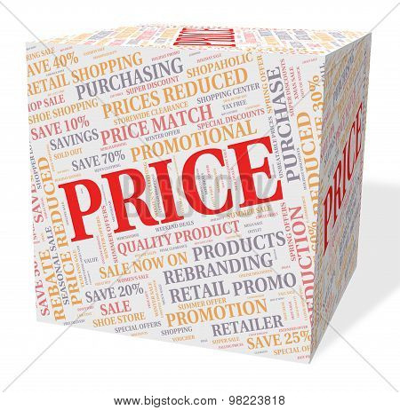 Price Cube Means Word Text And Valuation