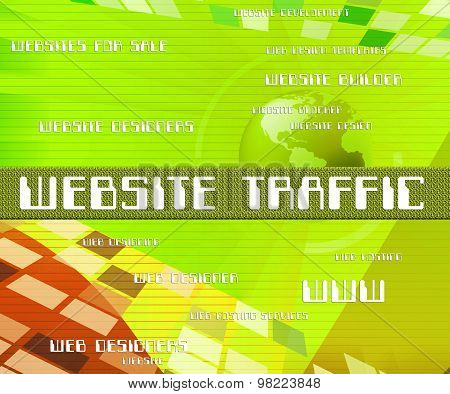 Website Traffic Means Websites Www And Customers
