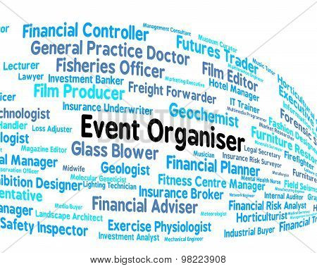 Event Organiser Represents Managed Employee And Occupations